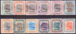BRUNEI 1907 SG 23-33 Compl.set Used Incl. Colour Shade For 4c CV £340 - Brunei (...-1984)