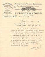 Vieux Papier - Paris - 75 - Orgues Harmoniums - Eglises, Chapelles & Salons - H. Christophe & Etienne  - Juin 1906 - Unclassified