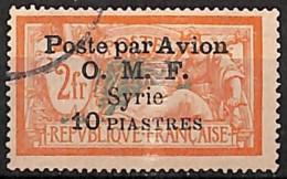 D - [827985]TB//O/Used-c:43e-Syrie 1922 - PA13, 10pi Sur 2f, Poste Par Avion, Colonies - Aéreo