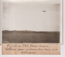 CIRCUIT DE L'EST DOUAI AMIENS LEBLANC UN TRAIN PRES AMIENS   18*13CM Maurice-Louis BRANGER PARÍS (1874-1950) - Aviación