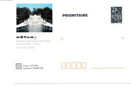 PAP TSC Neuf Monum Domaine National De Saint-Cloud - Marianne De Lamouche Bleue - Lot B2K/0509433 - Biglietto Postale