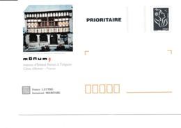 PAP TSC Neuf Monum Maison D'Ernest Renan à Tréguier - Marianne De Lamouche Bleue - Lot B2K/0509433 - Biglietto Postale