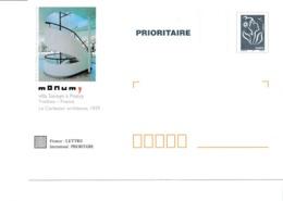 PAP TSC Neuf Monum Villa Savoye à Poissy - Marianne De Lamouche Bleue - Lot B2K/0509433 - Biglietto Postale