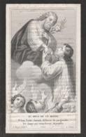 Non Anna Francisca Maes-nieukerken 1816-st Nicolaas Klooster-lokeren  1881-tekst Scheef Gedrukt - Devotion Images