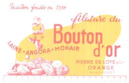 F B/Buvard Filature Du Bouton D'Or  (N= 1) - Buvards, Protège-cahiers Illustrés