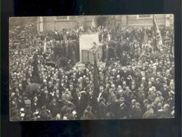 Carte Photo Foto  Moerbeke Monument 1914 1918 Geo Verbanck - Moerbeke-Waas