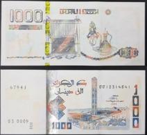 ALGERIA ALGERIE BANKNOTE NOTE BILLET - 1000 DINARS DZD - 2018 2019 - NEW DESIGN - UNCIRCULATED UNC - Argelia