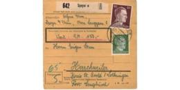 Allemagne  - Colis Postal  - Départ Speyer - Pour  Herrchweiler  ( Henriville )   -   5-3-43 - Allemagne