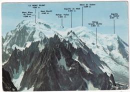Vallée De Chamonix - Argentiere - Panorama Sur Les Aiguilles Et Le Massif Du  Mont-Blanc - (Haute-Savoie) - Chamonix-Mont-Blanc