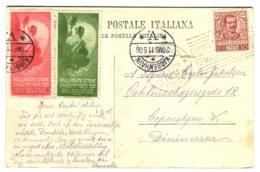 CINDERELLA ERINNOFILIA INAUGURAZIONE DEL SEMPIONE MILANO 1906 2 Vignette Su Cartolina Andata 1906 - 1900-44 Vittorio Emanuele III