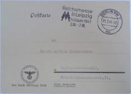 1941 DR Postkarte Reichsministerium Für Volksaufklärung Und Propaganda - Briefe U. Dokumente
