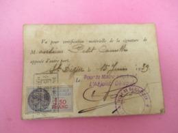 Carte D'Identité Scolaire à 2 Volets / Immaculée Conception De Saint Dizier/PIAULT/ Osne Le Val/1938  AEC164 - Autres