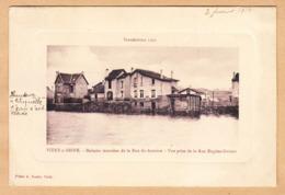 CPA Vitry S.Seine, Inondations 1910, Maisons Inondees De La Rue St.-Antoine-Vue Prise De La Rue Eugene-Dubois, Gel. 1912 - Vitry Sur Seine