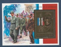République De Centrafrique - Thématique De Gaulle - Neuf Sans Charnière - Timbre OR - De Gaulle (General)