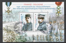 FRANCE 2019 Bloc - France - Pologne Oblitéré Cachet Rond - Used Stamps