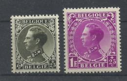 Belgien 382/383 ** - 1934-1935 Leopold III