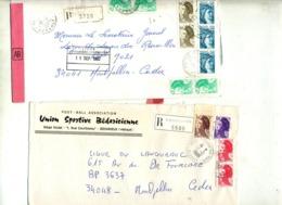 Lot 45 Lettre Recommandée Herault à Voir Entete Football - Marcophilie (Lettres)