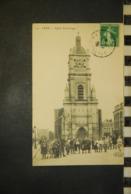 CP, 62, LENS Eglise Saint Leger N°14 Edition ELD Belle Animation - Lens