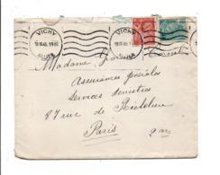 AFFRANCHISSEMENT COMPOSE SUR LETTRE DE VICHY 1945 - Marcophilie (Lettres)