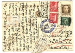 1945 Intero Postale Interessantissimo Raccomandato Con Francobolli E Stampe VERIFICATO CENSURA Ecc.  Andato In Danimarca - 4. 1944-45 Sozialrepublik