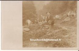 Suisse - Valais - Val Ferret (annotation Au Dos) Carte Photo Ziege Chevre Goat - VS Wallis