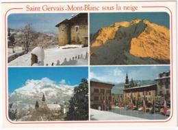 Saint-Gervais - Chateau, Coucher De Soleil Mt-Blanc, Le Station, Clochers Et Aiguilles De Warens   - (Haute-Savoie) - Saint-Gervais-les-Bains