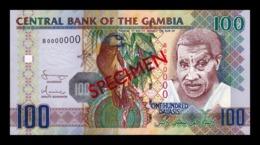 Gambia 100 Dalasis 2006 - 2013 Pick 29a Specimen SC UNC - Gambia