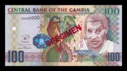 Gambia 100 Dalasis 2006 - 2013 Pick 29c Specimen SC UNC - Gambia