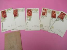 6 Menus Vierges Publicitaires/ BISCUITS LEFEVRE-UTILE/Vers 1900-30  MENU274 - Menu