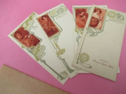 4 Menus Vierges Publicitaires/ BISCUITS LEFEVRE-UTILE/Vers 1900-30  MENU275 - Menus