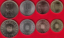Romania Set Of 4 Coins: 1-50 Bani 2019 UNC - Roumanie