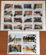 Ajman Manama 1971 Wildlife Conservation Animals Birds Complete MNH - Francobolli