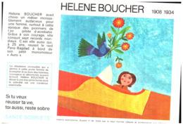 """S S A/Buvard Sécurité Sobriété Info Alcolisme """"Elene Boucher"""" (Santé Sobriété) (N=8) - Buvards, Protège-cahiers Illustrés"""