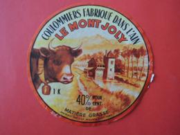 ETIQUETTE De FROMAGE.  MONTJOLY. Fabriqué Dans L'AIN  Vache. Clarine. Moulin Sur La Rivière - Formaggio