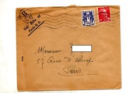 Lettre Flamme Muette Paris Sur Gandon Armoirie Chaine Cachet R 417 ??? - Mechanical Postmarks (Advertisement)