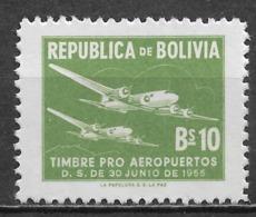 Bolivia 1955. Scott #RA24 (M) Planes - Bolivia