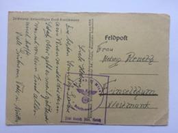 GERMANY WW2 Feldpost Card Wien To Einselthum - Duitsland