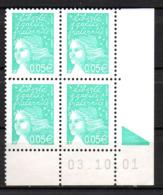 Col12   France Coin Daté N° 3445 / 3423 Luquet  03 10 01 Bopst  Neuf XX MNH Luxe - 2000-2009