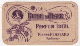 CARTE PARFUMEE Ancienne Brise D'Alger Parfum Idéal Pierre Plassard Parfumeur - Perfume Cards