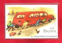 27-CPSM CRIQUEBEUF SUR SEINE - France