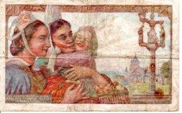 Billet France Pêcheur De 20 Francs Année 1942 . U.28. - 1871-1952 Antichi Franchi Circolanti Nel XX Secolo