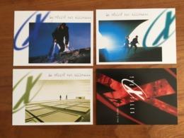 """4 CARTES POSTALES PRE TIMBREES X FILES """"La Vérité Est Ailleurs"""" - 1998 - Neuf - PAP: Sonstige (1995-...)"""