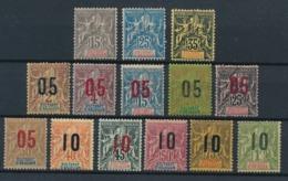 DB-202: ANJOUAN: Lot Avec N°15*-16*-17*-20/30* - Anjouan (1892-1912)