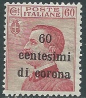 1919 TRENTO E TRIESTE EFFIGIE 60 CENT MNH ** - UR43-3 - Trente & Trieste