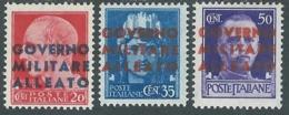 1943 OCCUPAZIONE ANGLO AMERICANA NAPOLI 3 VALORI MH * - UR45-4 - Britisch-am. Bes. Neapel