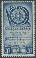 1946 CORPO POLACCO SOCCORSO DI GUERRA 1 LIRA MNH ** - UR44-5 - 1946-47 Corpo Polacco Period