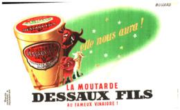 M D/Buvard Moutarde Dessaux (Format 17 X 11)  (N= 2) - Moutardes