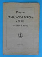 1957. EUROPEAN BOXING CHAMPIONSHIPS - OFFICIAL PROGRAMME ... Boxen Boxe Boxeo Pugilato RRRR - Unclassified