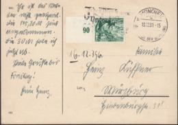 Germany - MiNr. 684 EF Postkarte, München 13.12.1939. - Lettres & Documents
