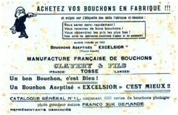 """B E/Buvard Bouchons """"EXelsior"""" (N= 1) - Buvards, Protège-cahiers Illustrés"""
